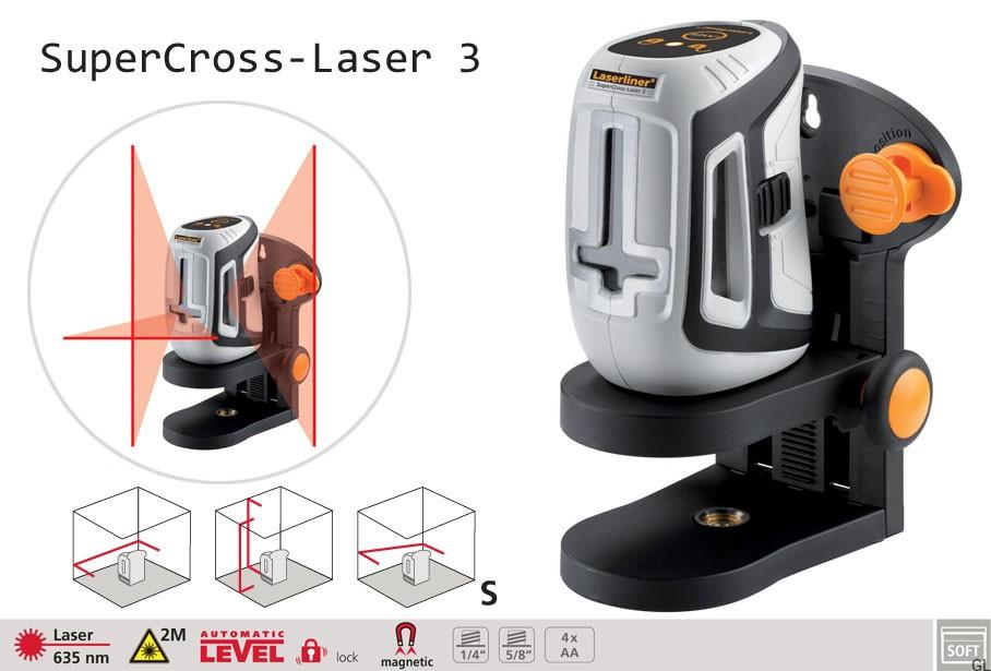 niwelator laserliner supercross laser 3 geologic. Black Bedroom Furniture Sets. Home Design Ideas